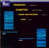 SCHNITTKE - Ambartsumian - Sonate pour violon et piano n°2