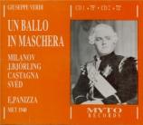VERDI - Panizza - Un ballo in maschera (Un bal masqué), opéra en trois a Live, Met 14 - 12 - 1940
