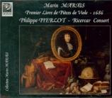 MARAIS - Pierlot - Pièces de viole du premier livre