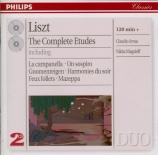 LISZT - Arrau - Douze études d'exécution transcendante, pour piano S.139