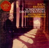 Orchestrations d'oeuvres de Bach et Brahms