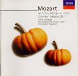 MOZART - Standage - Concerto pour violon et orchestre n°1 en si bémol ma