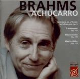 BRAHMS - Achucarro - Seize variations pour piano sur un thème de Schuman