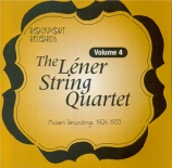The Lener String Quartet Vol.4
