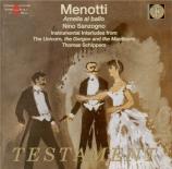 MENOTTI - Sanzogno - Amelia al Ballo