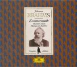 BRAHMS - Zukerman - Musique de chambre (intégrale)