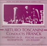 FRANCK - Toscanini - Symphonie pour orchestre enrémineur FWV.48