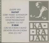 VERDI - Karajan - Falstaff, opéra en trois actes live Salzburg 10 - 8 - 1957
