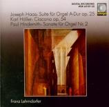 HAAS - Lehrndorfer - Suite pour orgue op.25