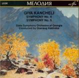 KANCHELI - Khakidze - Symphonie n°4 'In commemoration of Michaelangelo'