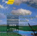 BACH - Rilling - Geschwinde, ihr wirbelnden Winde, cantate pour solistes