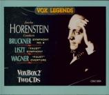 LISZT - Horenstein - Faust symphonie, pour orchestre, ténor et chœur ad