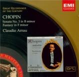 CHOPIN - Arrau - Sonate pour piano n°3 en si mineur op.58