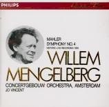 MAHLER - Mengelberg - Symphonie n°4 (import Japon) import Japon