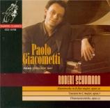 SCHUMANN - Giacometti - Humoreske, pour piano en si bémol majeur op.20