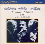 SCHUMANN - Rubinstein - Trio avec piano n°1 en ré mineur op.63