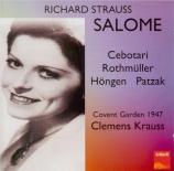 STRAUSS - Krauss - Salomé, opéra op.54 (Live London 30 - 09 - 1947) Live London 30 - 09 - 1947