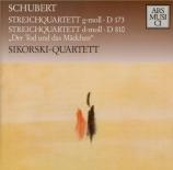 SCHUBERT - Sikorski Quarte - Quatuor à cordes n°9 D.173
