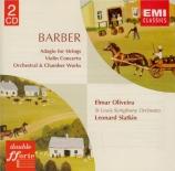 BARBER - Slatkin - Adagio pour cordes op.11