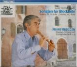 Sonates pour flûte à bec