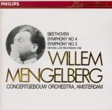 BEETHOVEN - Mengelberg - Symphonie n°4 op.60 (Import Japon) Import Japon