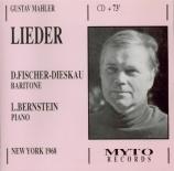 MAHLER - Fischer-Dieskau - Serenade aus 'Don Juan', pour voix et piano Live New York, 8 - 11 - 1968