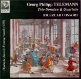 TELEMANN - Ricercar Consor - Quatuor pour hautbois, violon, viole de gam