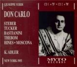 VERDI - Adler - Don Carlo, opéra (version italienne) Live, Met 05 - 03 - 1955