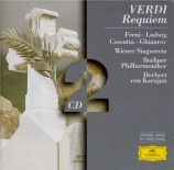 VERDI - Karajan - Messa da requiem, pour quatre voix solo, choeur, et orc