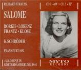 STRAUSS - Schroder - Salomé, opéra op.54 (Live Frankfurt 1952) Live Frankfurt 1952