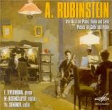 RUBINSTEIN - Teplukhina - Trio avec piano n°3 op.52