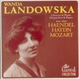Wanda Landowska joue Haendel, Haydn, Mozart (1937)