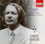 LISZT - François - Rhapsodie hongroise n°7, pour piano en ré mineur S.24