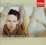 HENZE - Bostridge - Six chants de l'arabe