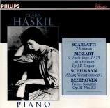 SCARLATTI - Haskil - Sonate pour clavier en mi bémol majeur K.193 L.142