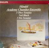 HAENDEL - Academy of St M - Sonate pour hautbois en do mineur op.1 n°8 H