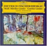 Mörike Lieder . Goethe-Lieder
