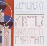 ZEMLINSKY - Artis Quartet - Quatuor à cordes n°1 op.4