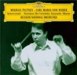 WEBER - Pletnev - Konzertstück pour piano op.79