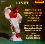 LISZT - Albert - Rhapsodie hongroise n°2, pour orchestre S.359 - 2 Arrangements pour orchestre