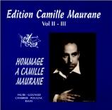 Hommage à Camille Maurane