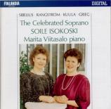 Mélodies de Sibelius, Rangstrom, Kuula, Grieg