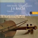 BACH - Europa Galante - Concerto pour clavecin et cordes n°1 en ré mineu Concertos pour clavier interprétés au violon