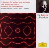 HENZE - Schneiderhan - Concerto pour violon n°1