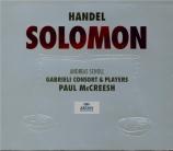 HAENDEL - McCreesh - Solomon, oratorio HWV.67