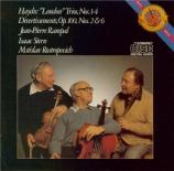 HAYDN - Rampal - Divertimento pour deux flûtes et violoncelle n°1 en do