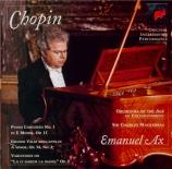 CHOPIN - Ax - Concerto pour piano et orchestre n°1 en mi mineur op.11