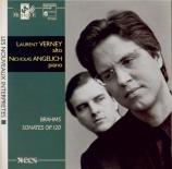 BRAHMS - Verney - Sonate pour alto et piano n°1 en fa mineur op.120 n°1