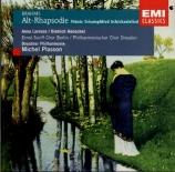 BRAHMS - Plasson - Rhapsodie (Goethe), mélodie pour alto et choeur mascul