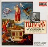 TELEMANN - Max - Die Auferstehung und Himmelfahrt Jesu (La résurrection